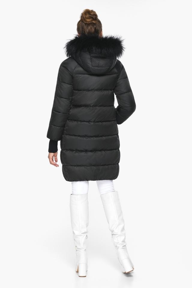"""Куртка женская чёрная удобного фасона на зиму модель 42150 Braggart """"Angel's Fluff"""" фото 7"""