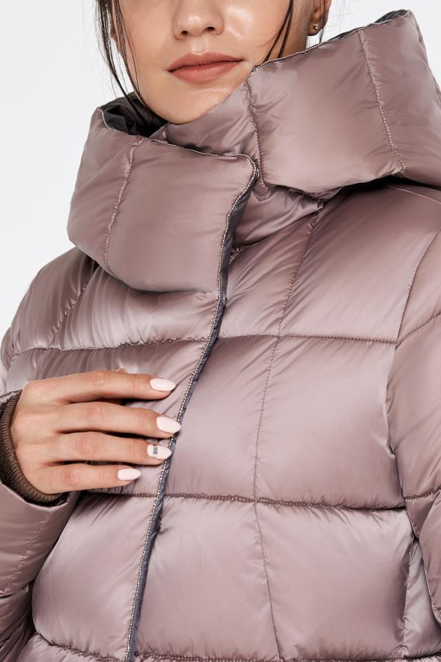 """Куртка с капюшоном женская цвета пудры модель 31028 Braggart """"Angel's Fluff"""" фото 7"""