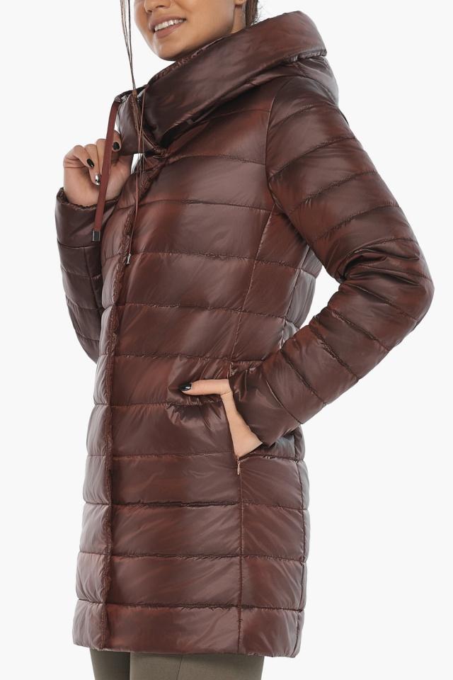 """Каштановая женская куртка с карманами модель 65085 Braggart """"Angel's Fluff"""" фото 6"""