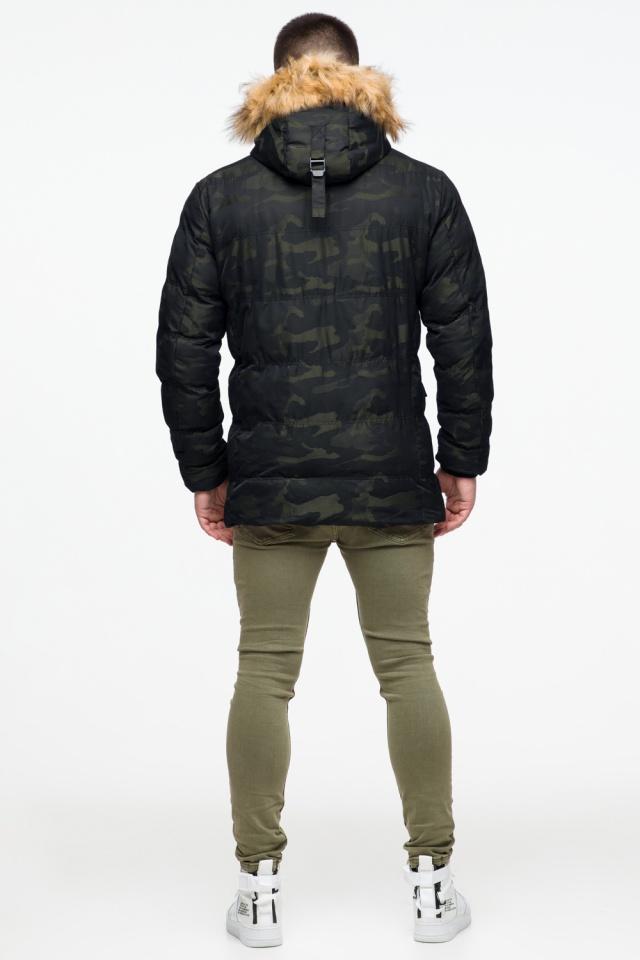 "Тёплая зимняя куртка на мальчика тёмно-зеленая модель 25450 Braggart ""Youth"" фото 5"