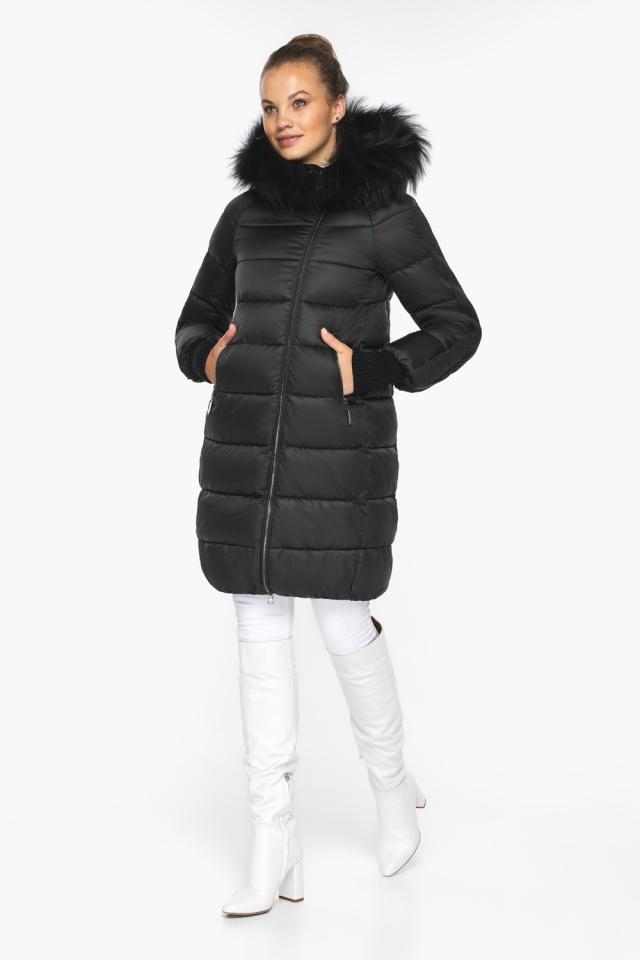 """Куртка женская черная удобного фасона на зиму модель 42150 Braggart """"Angel's Fluff"""" фото 6"""
