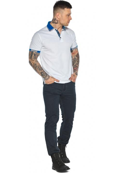 Мужская удобная белая футболка поло модель 5216 Braggart фото 1