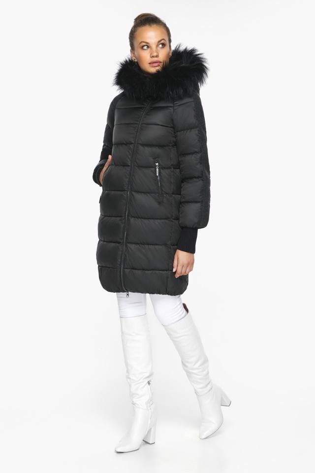 """Куртка женская черная удобного фасона на зиму модель 42150 Braggart """"Angel's Fluff"""" фото 5"""