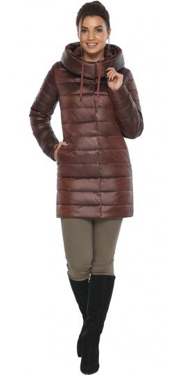 """Каштановая женская куртка с карманами модель 65085 Braggart """"Angel's Fluff"""" фото 1"""