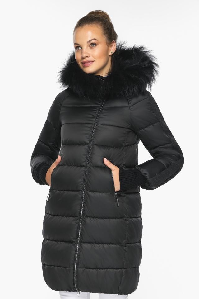 """Куртка женская черная удобного фасона на зиму модель 42150 Braggart """"Angel's Fluff"""" фото 4"""