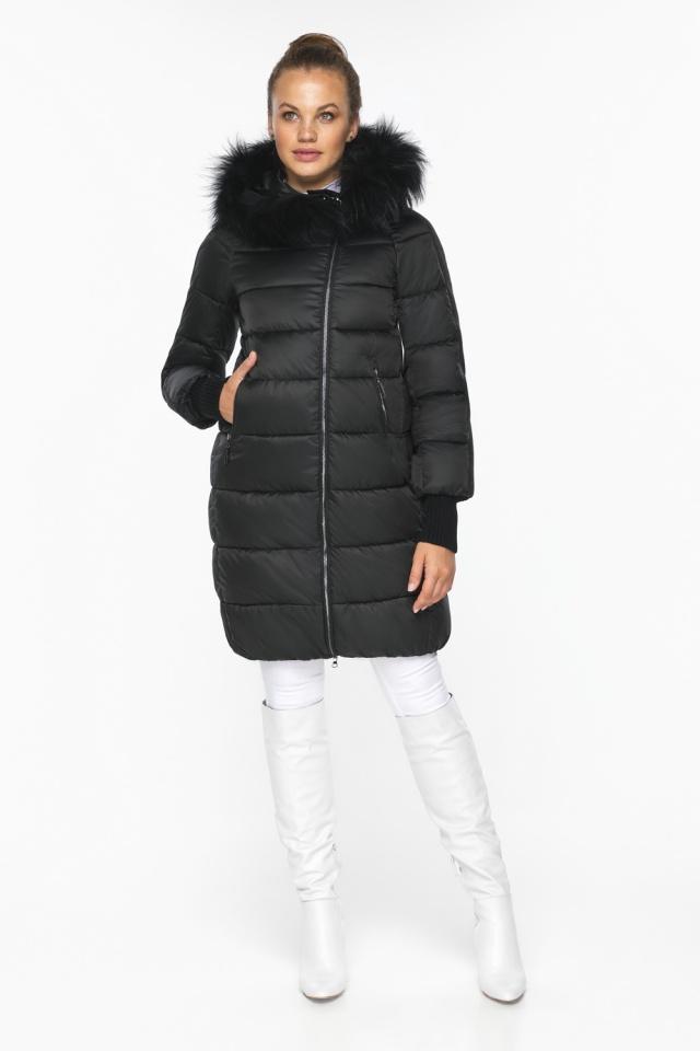 """Куртка женская чёрная удобного фасона на зиму модель 42150 Braggart """"Angel's Fluff"""" фото 3"""