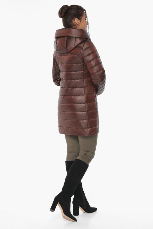 """Каштановая женская куртка с карманами модель 65085 Braggart """"Angel's Fluff"""" фото 5"""