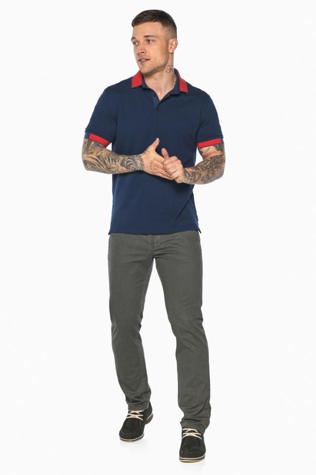 Стильная футболка поло мужская синяя модель 5815 Braggart фото 3