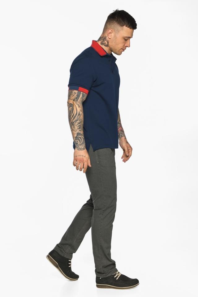 Стильная футболка поло мужская синяя модель 5815 Braggart фото 7