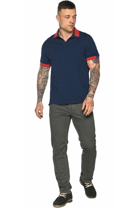 Стильна футболка поло чоловіча синя модель 5815 Braggart фото 1