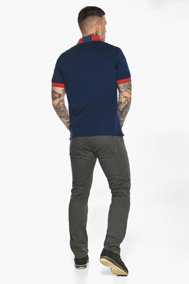 Стильная футболка поло мужская синяя модель 5815 Braggart фото 8