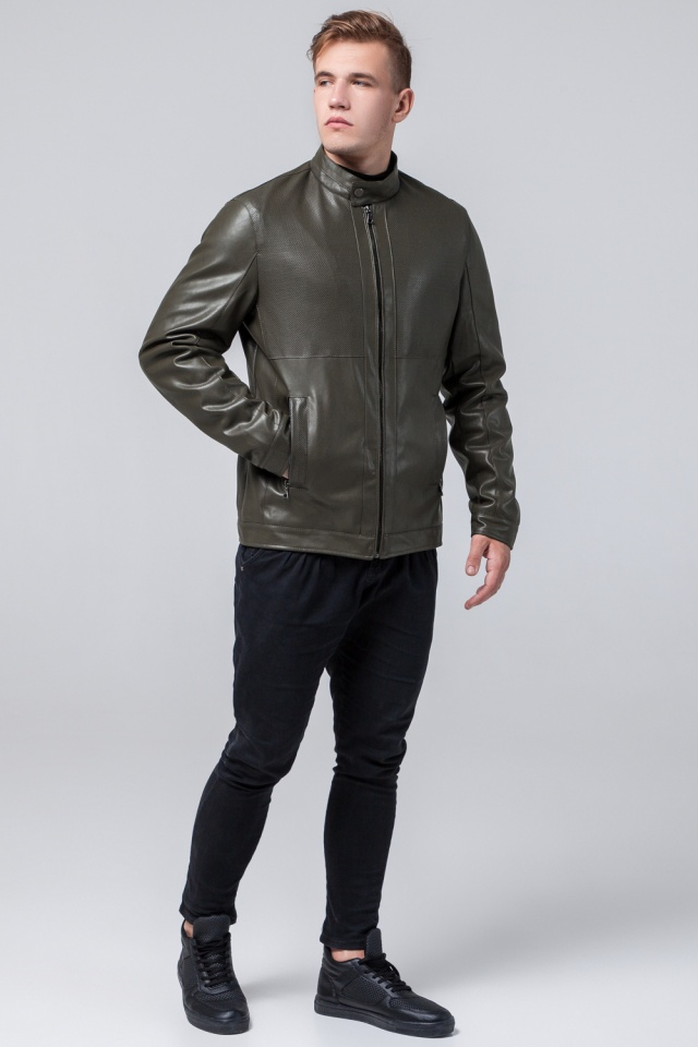Куртка молодежная цвета хаки мужская осенне-весенняя модель 2193