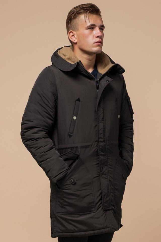 """Парка коричневая мужская теплая зимняя модель 90520 Braggart """"Arctic"""" фото 4"""