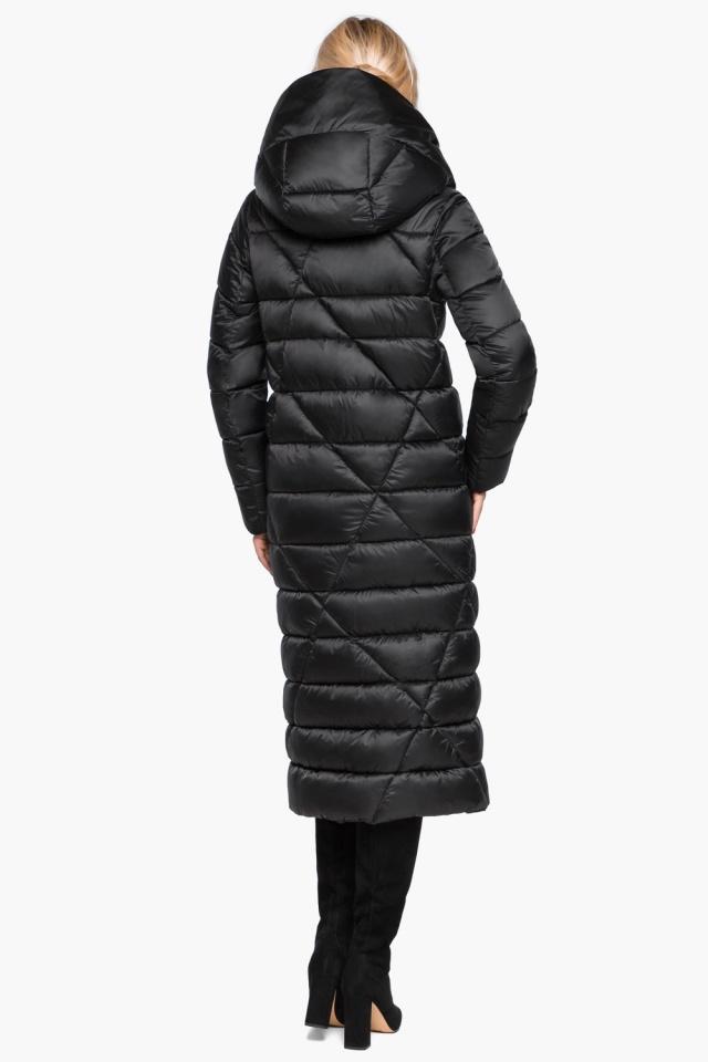 """Трендовая черная женская куртка зимняя модель 31058 Braggart """"Angel's Fluff"""" фото 8"""