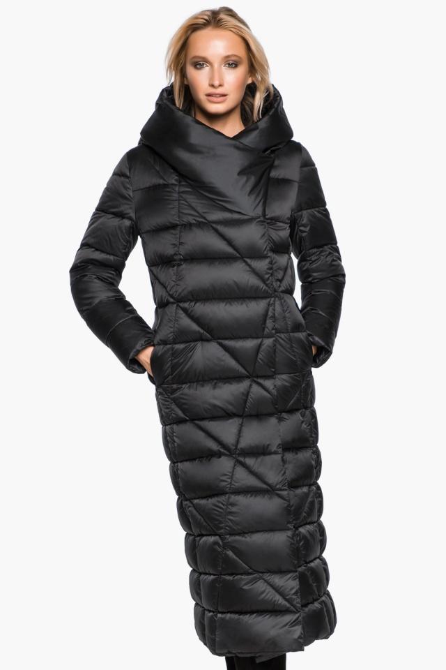 """Трендовая черная женская куртка зимняя модель 31058 Braggart """"Angel's Fluff"""" фото 3"""