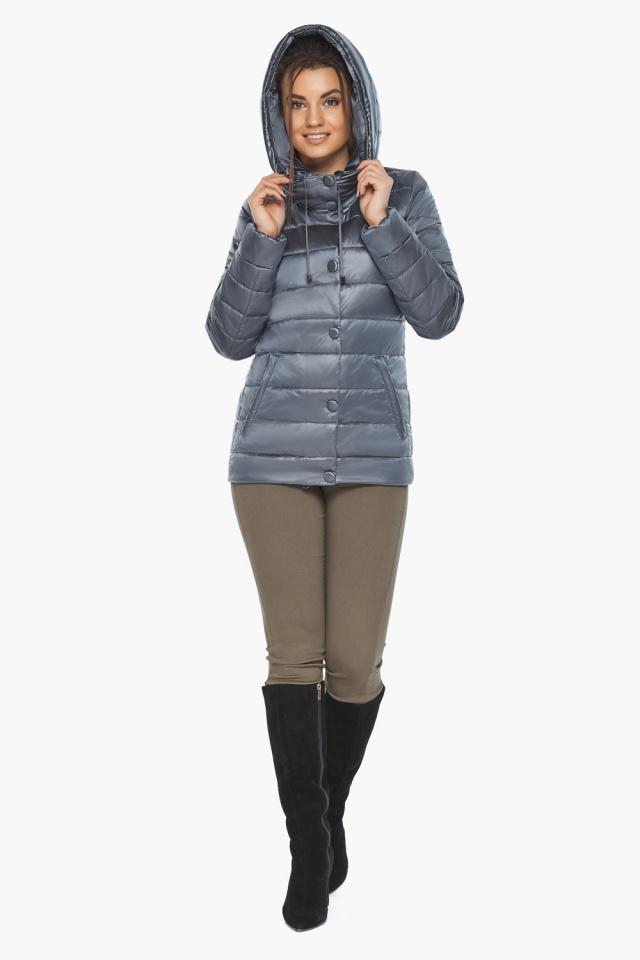 """Куртка с капюшоном женская цвет маренго модель 61030 Braggart """"Angel's Fluff"""" фото 2"""