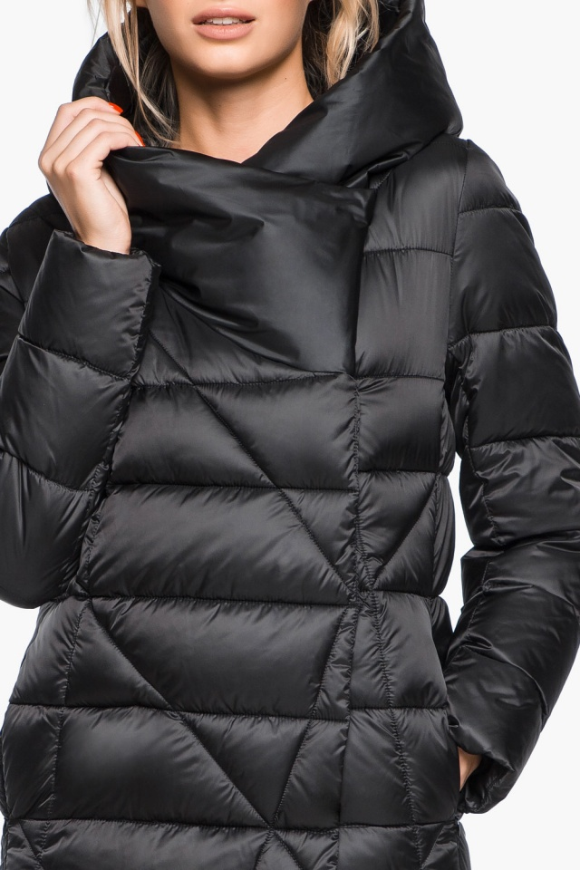 """Трендовая черная женская куртка зимняя модель 31058 Braggart """"Angel's Fluff"""" фото 9"""