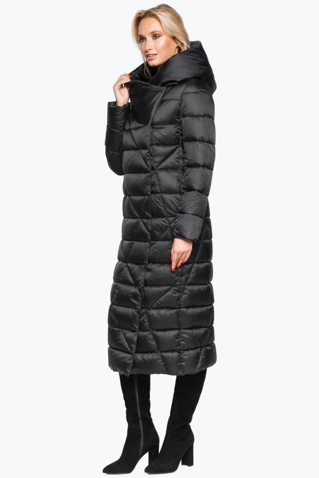 """Трендовая черная женская куртка зимняя модель 31058 Braggart """"Angel's Fluff"""" фото 2"""