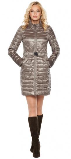 """Куртка с поясом женская цвет кварцевый модель 39002 Braggart """"Angel's Fluff"""" фото 1"""
