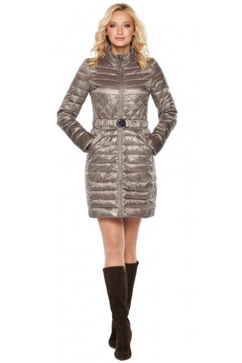 """Куртка з поясом жіноча колір кварцовий модель 39002 Braggart """"Angel's Fluff"""" фото 1"""