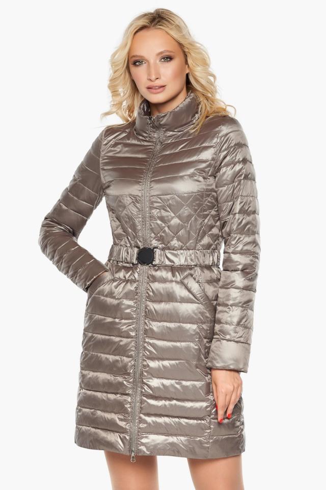 """Куртка с поясом женская цвет кварцевый модель 39002 Braggart """"Angel's Fluff"""" фото 4"""