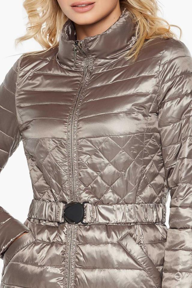 """Куртка с поясом женская цвет кварцевый модель 39002 Braggart """"Angel's Fluff"""" фото 6"""