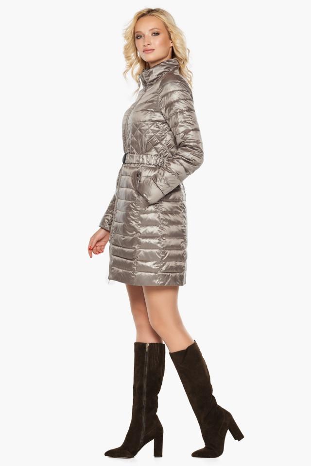 """Куртка с поясом женская цвет кварцевый модель 39002 Braggart """"Angel's Fluff"""" фото 3"""