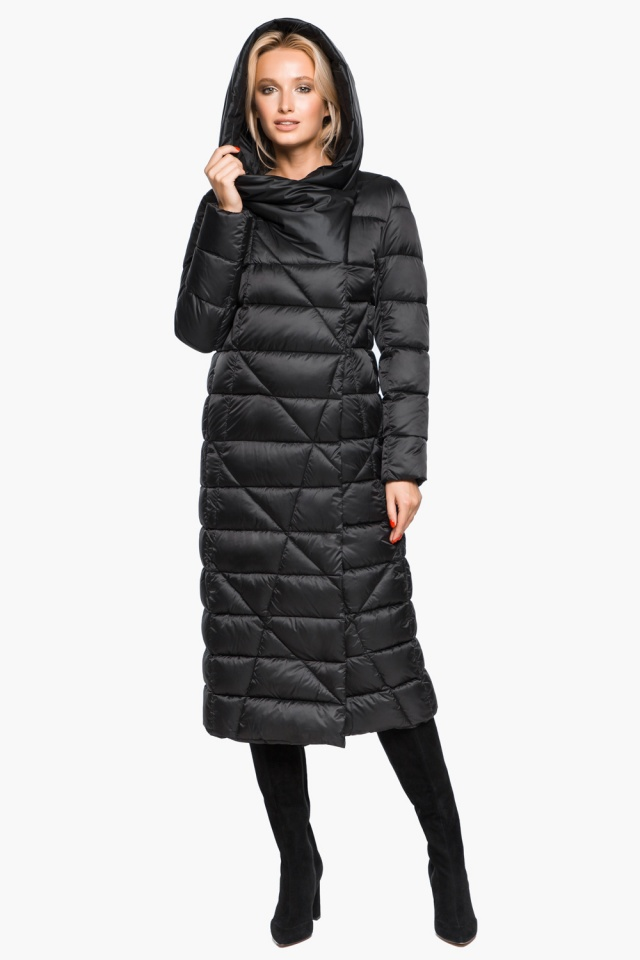 """Трендовая черная женская куртка зимняя модель 31058 Braggart """"Angel's Fluff"""" фото 6"""
