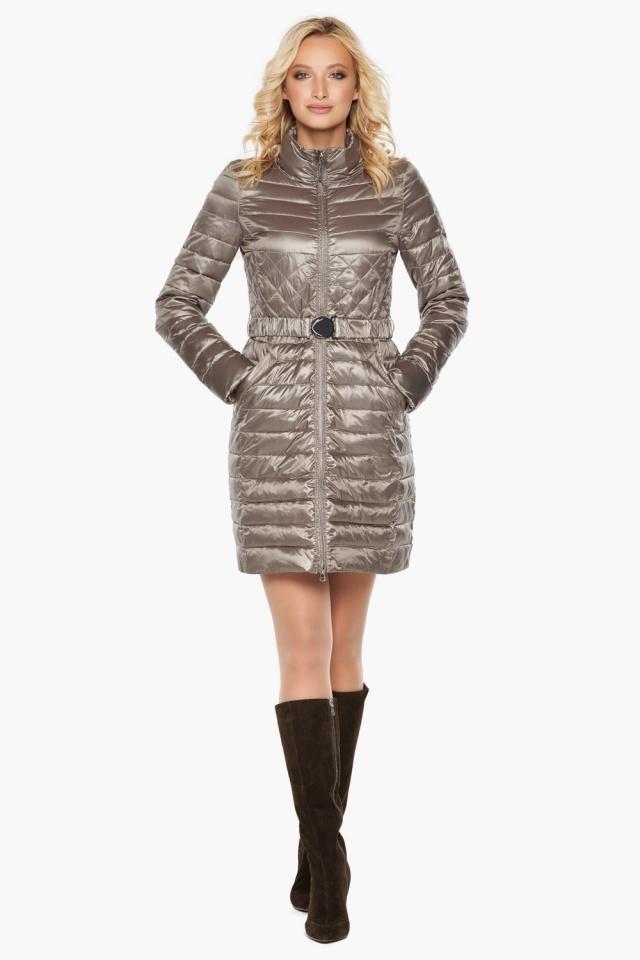 """Куртка с поясом женская цвет кварцевый модель 39002 Braggart """"Angel's Fluff"""" фото 2"""
