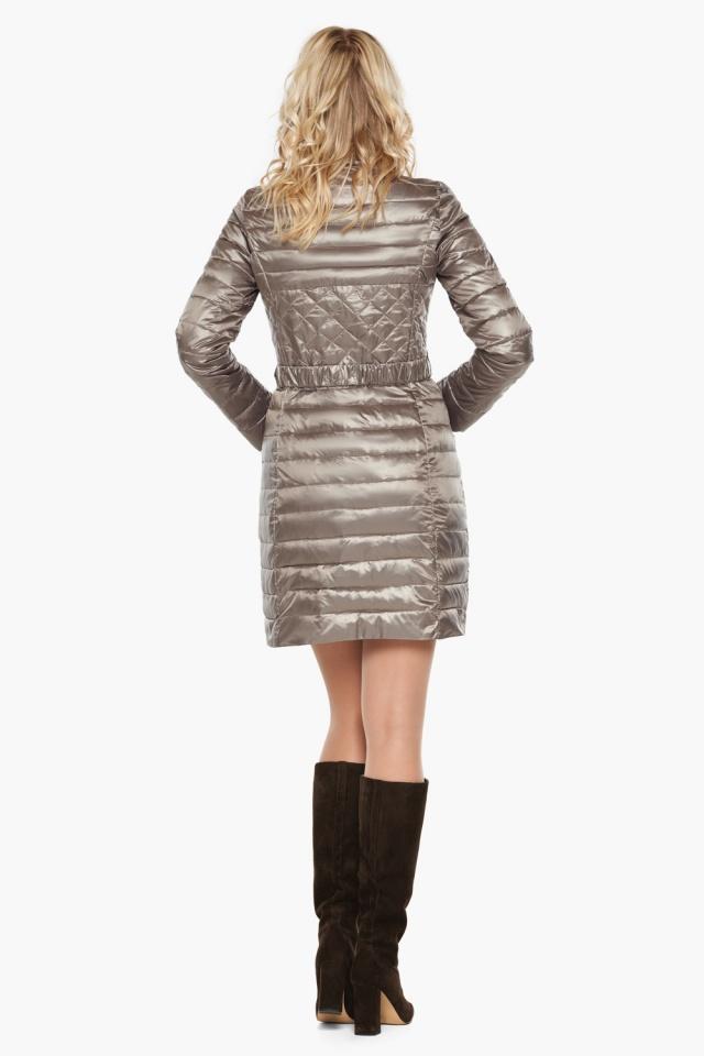 """Куртка с поясом женская цвет кварцевый модель 39002 Braggart """"Angel's Fluff"""" фото 5"""
