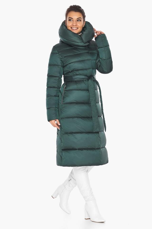 """Куртка зимняя женская зелёная модель 31515 Braggart """"Angel's Fluff"""" фото 4"""