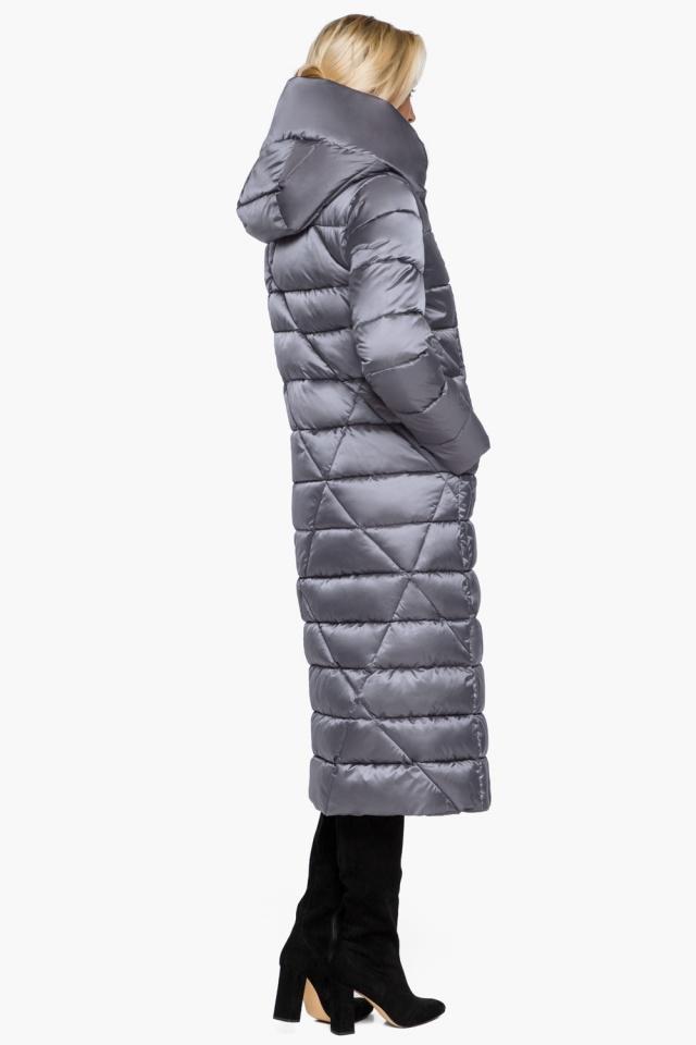 Жемчужно-серая куртка женская зимняя модель 31058