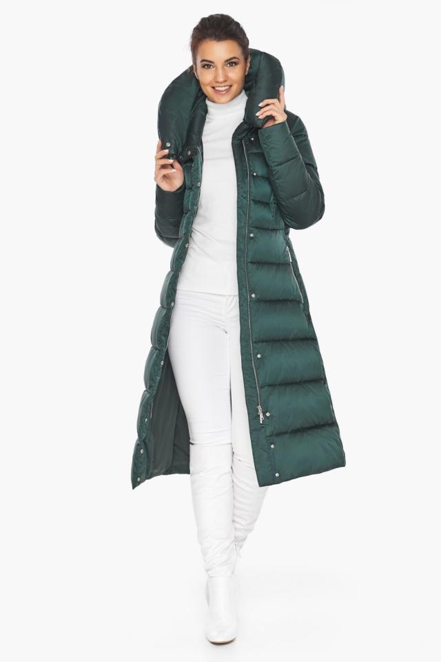 """Куртка зимняя женская зелёная модель 31515 Braggart """"Angel's Fluff"""" фото 3"""