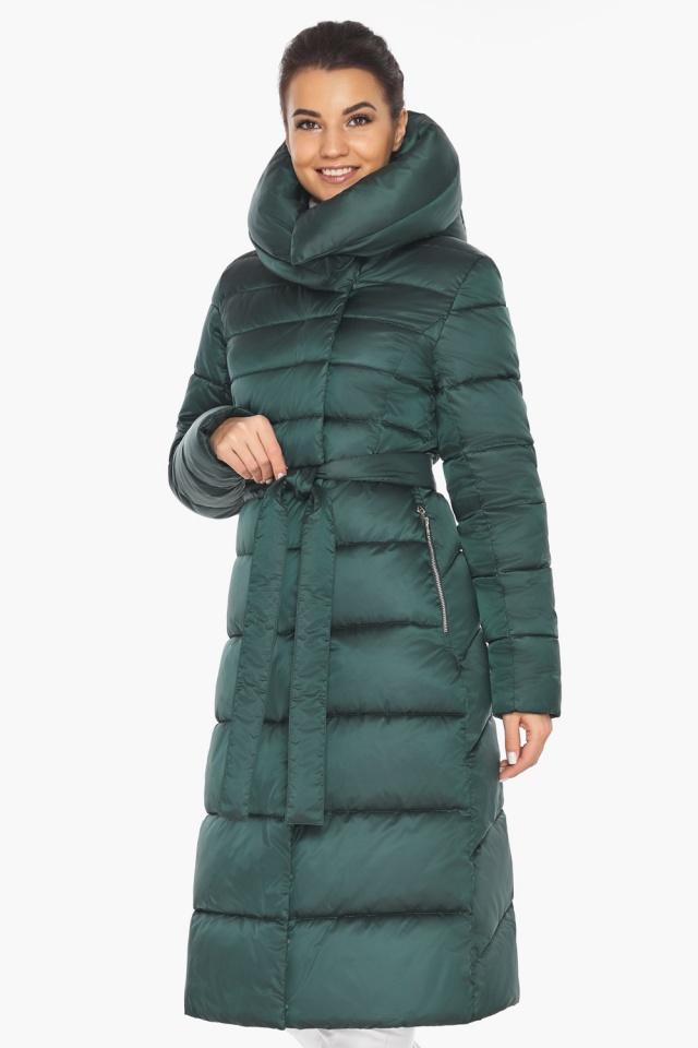"""Куртка зимняя женская зелёная модель 31515 Braggart """"Angel's Fluff"""" фото 5"""