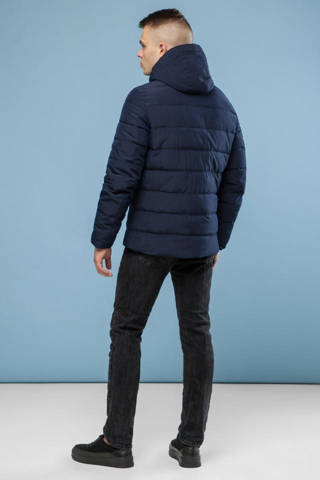 Тёплая зимняя куртка мужская тёмно-синяя модель 6008 Kiro Tokao – Ajento фото 5