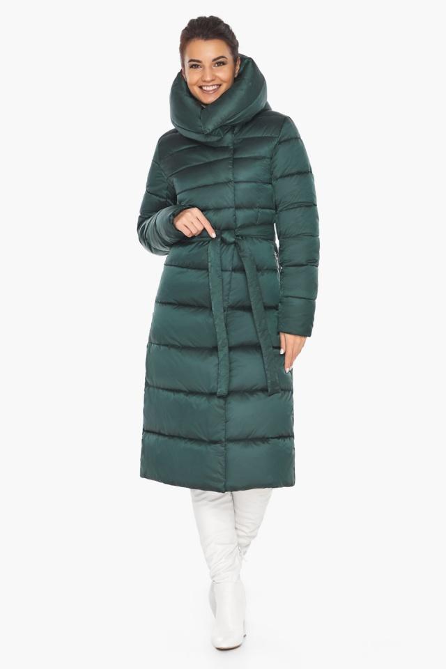"""Куртка зимняя женская зелёная модель 31515 Braggart """"Angel's Fluff"""" фото 2"""