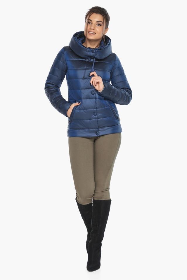 """Женская куртка оригинальная цвет сапфировый модель 61030 Braggart """"Angel's Fluff"""" фото 2"""
