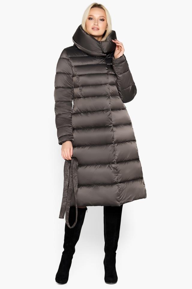 """Зимняя куртка женская цвет капучино модель 31515 Braggart """"Angel's Fluff"""" фото 4"""