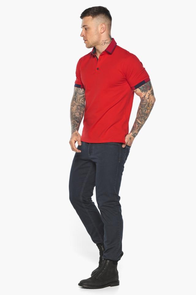 Красная модная футболка поло мужская модель 5640 Braggart фото 2
