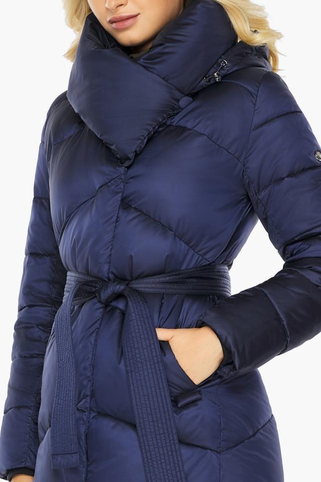 """Куртка зимняя женская теплая цвет синий бархат модель 47260 Braggart """"Angel's Fluff"""" фото 7"""