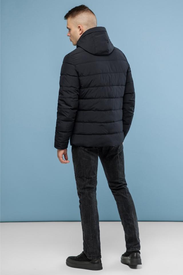 Модная мужская зимняя куртка чёрная модель 6008 Kiro Tokao – Ajento фото 5