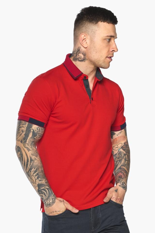 Красная модная футболка поло мужская модель 5640 Braggart фото 3