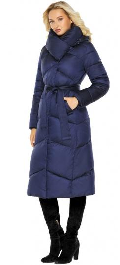 """Куртка зимняя женская теплая цвет синий бархат модель 47260 Braggart """"Angel's Fluff"""" фото 1"""
