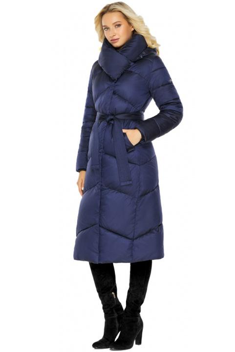 """Куртка зимова жіноча тепла колір синій оксамит модель 47260 Braggart """"Angel's Fluff"""" фото 1"""