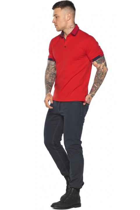 Красная модная футболка поло мужская модель 5640 Braggart фото 1
