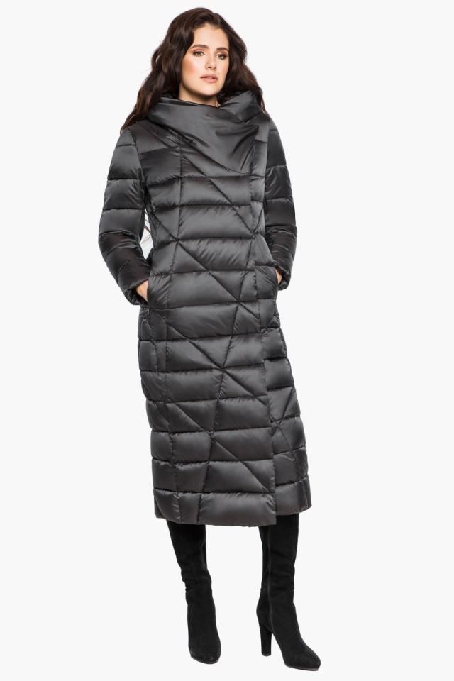 """Графитовая женская куртка на зиму модель 31058 Braggart """"Angel's Fluff"""" фото 2"""
