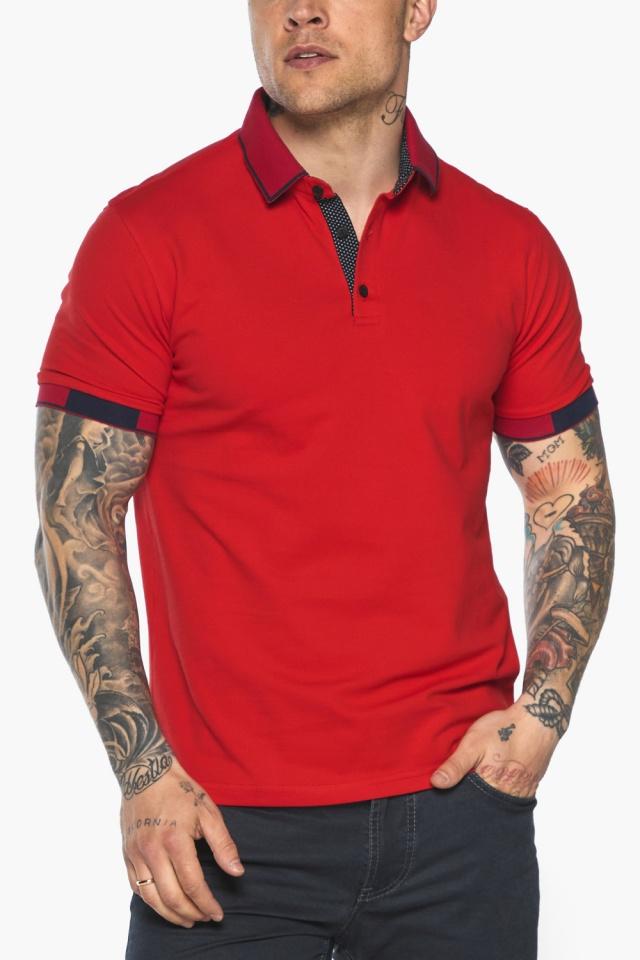 Красная модная футболка поло мужская модель 5640 Braggart фото 10