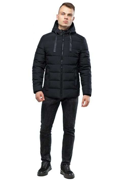 Модна чоловіча зимова куртка чорна модель 6008 Kiro Tokao – Ajento фото 1