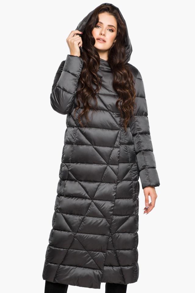 """Графитовая женская куртка на зиму модель 31058 Braggart """"Angel's Fluff"""" фото 3"""
