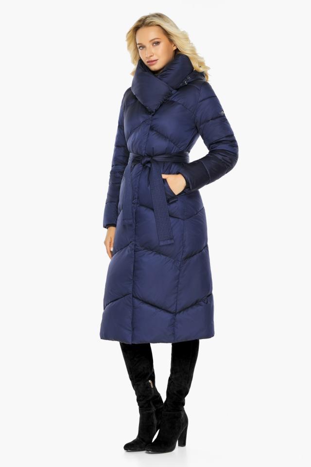 """Куртка зимняя женская теплая цвет синий бархат модель 47260 Braggart """"Angel's Fluff"""" фото 4"""